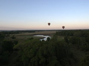 Hot Air Balloon view