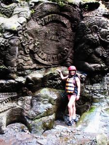 Ubud water rafting mountain carvings